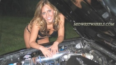 Ford Mustang Kompressor & Girl